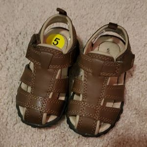 Carters size 5c leather sandals